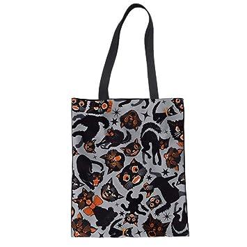 ZXXFR Bolsos Gatos Impreso Bolsa De Compras Reutilizable Mujeres Casual Shopper Tote Bag Bolso Mochila Bolsa Plegable: Amazon.es: Hogar
