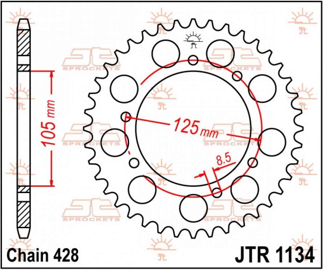 RS3 Corone 52 denti JTR1134.52 SMX Compatibile con 125 XT X//R//MULHACEN//SENDA//RIEJU MARATHON
