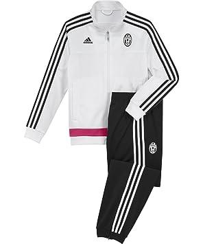 47f1c535e 2015-2016 Juventus Adidas PES Tracksuit (White) - Kids  Amazon.co.uk ...