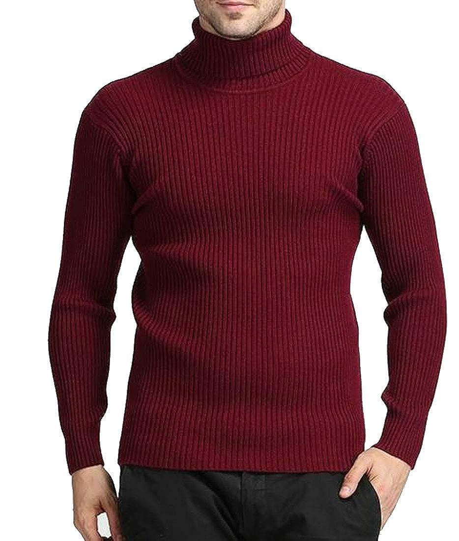 XTX Men Turtleneck Pullover Slim Jumper Knit Top Sweater