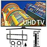 Samsung UN70KU6300 - 70' Class KU6300 6-Series 4K Ultra HD TV Flat Wall Mount Bundle includes TV, Flat Wall Mount Ultimate Kit and 6 Outlet Power Strip with Dual USB Ports