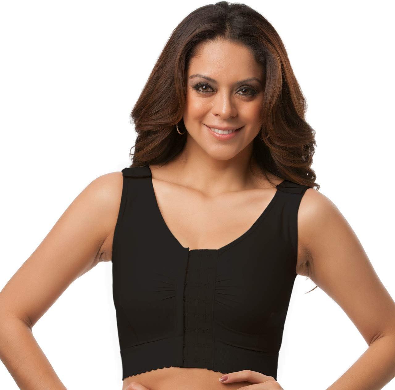 Isavela Womens Vest//Bra Center Hook /& Eye Without Sleeves/ XS Beige