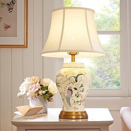 Lámpara de Mesa cerámica cerámica del pájaro Americano lámpara de ...