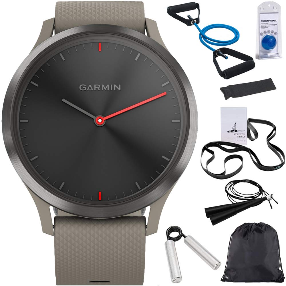 Amazon.com: Garmin Vivomove HR Sport Black with Sandstone ...