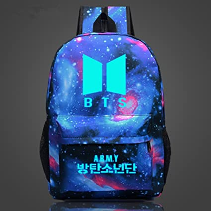Amazon.com  Bosunshine New Hot Star BTS Canvas Backpack Luminous ...