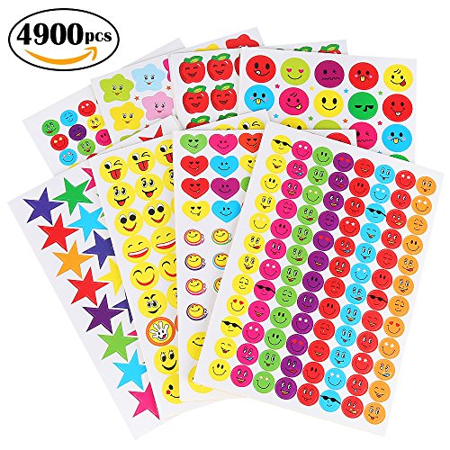 Reward Stickers for Kids by WEfun,4900 Multi Color Incentive Stickers for Teachers Classroom and School Bulk Use