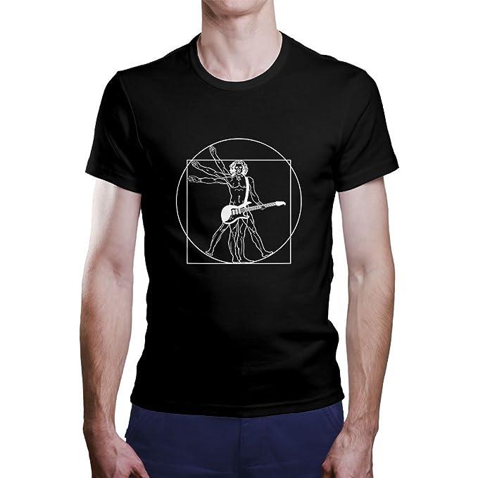 Camiseta Vinicius Rock. Una Camiseta de Hombre de Vinicius con una Guitarra eléctrica. Camiseta Friki de Color Negra: Amazon.es: Ropa y accesorios
