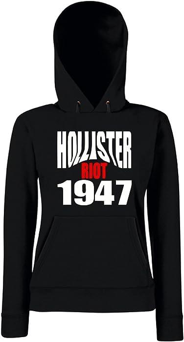 T-Shirtshock - Sudadera hoodie para las mujeras OLDENG00523 hollister riot 1947