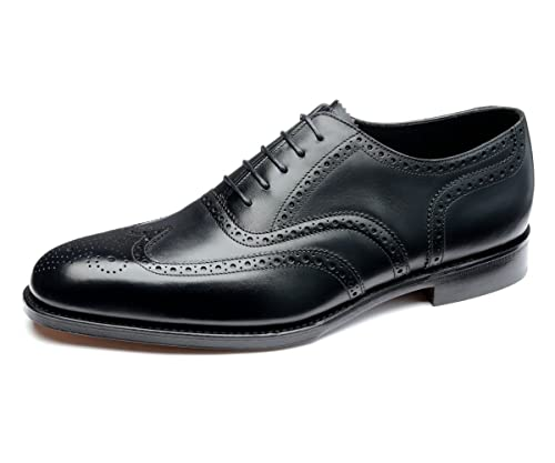 734634844d63 Loake Men's Buckingham Premium Brogue Lace-Up Shoes in Black,Brown and Tan  Leather