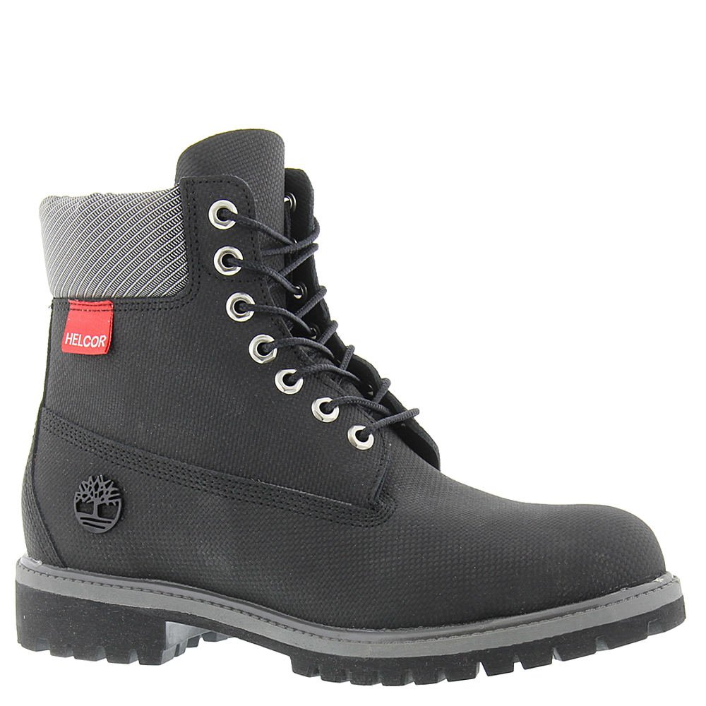 Timberland Mens 6 Inch Premium Plain Toe Helcor Black Relife Helcor Boot - 7.5