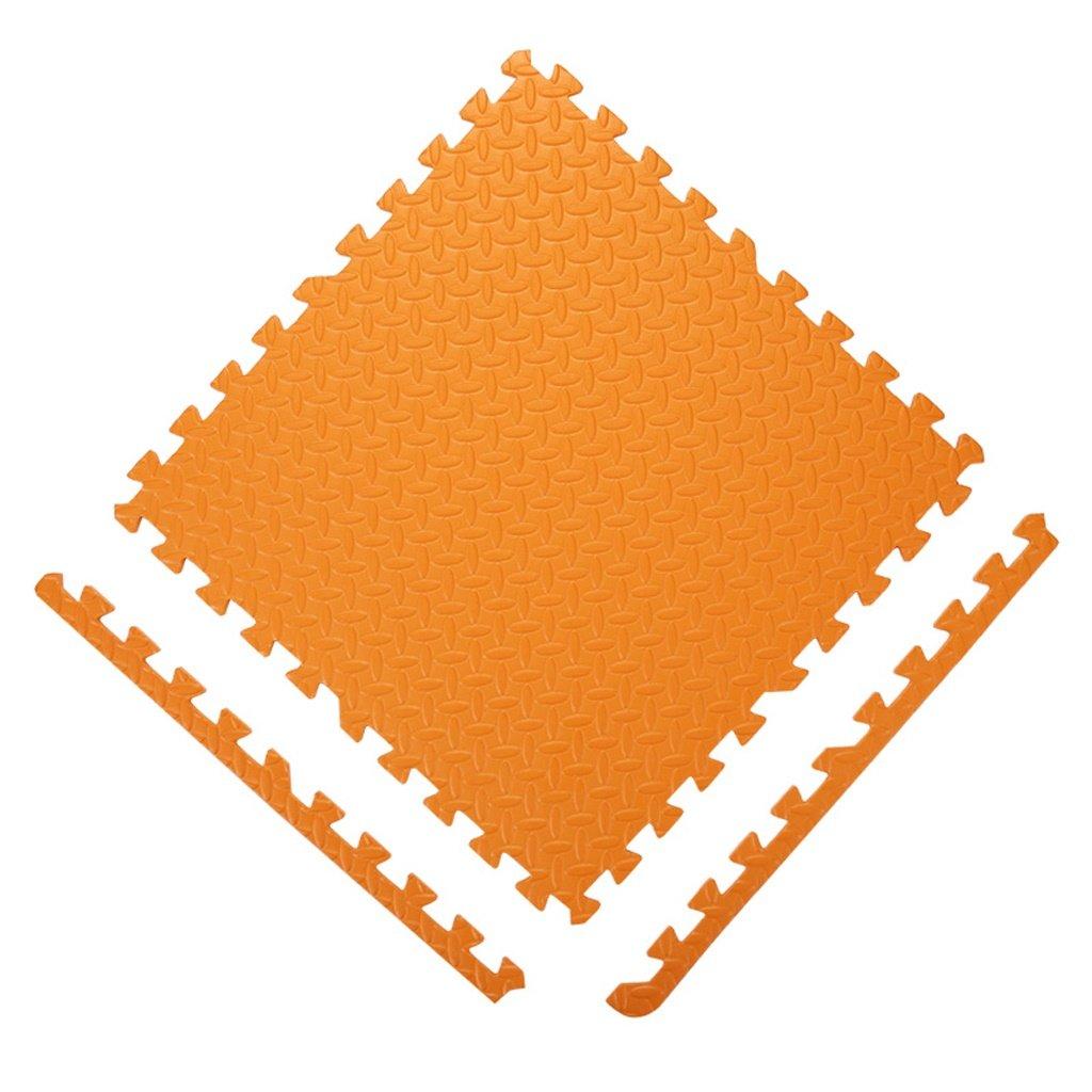 JPPXBD 環境にやさしいソリッドカラーフォームパッド、衝突防止パッド、ベビークロールマット、 JPPXBD ( Color : オレンジ , Size : 60*60*1.2cm/16pcs )   B07MD577N9