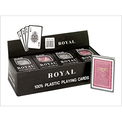 "Royal - 100% Plastic Poker Size Playing Cards, 3 1/2"" x 2 1/2"", 1 Dozen: Toys & Games"