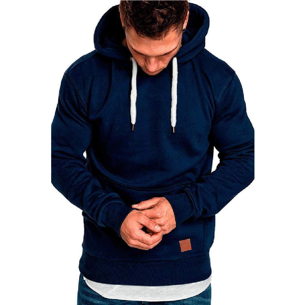 Giuoke Hoodies for Men,Men Casual Outdoor Pullover Hooded Sweatshirts Active Hoodies