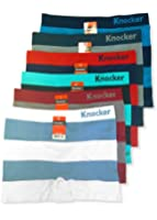 Men's Seamless Boxer Briefs Underwear Assorted 6 Pack