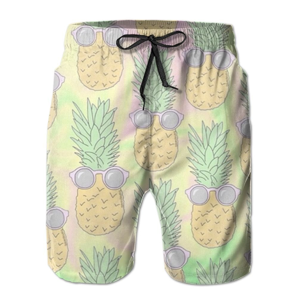 Sssssddd Sunglasses Pineapple Men's Tie Tropical Quick Drying Shorts Swimming Volleyball Beach Trousers