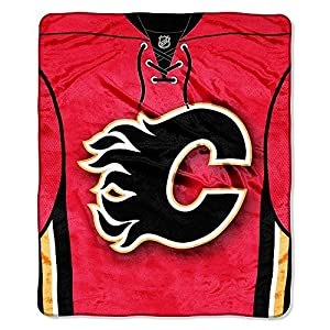 "Northwest NHL Calgary Flames Jersey Raschel 50 x 60"" Throw Blanket"
