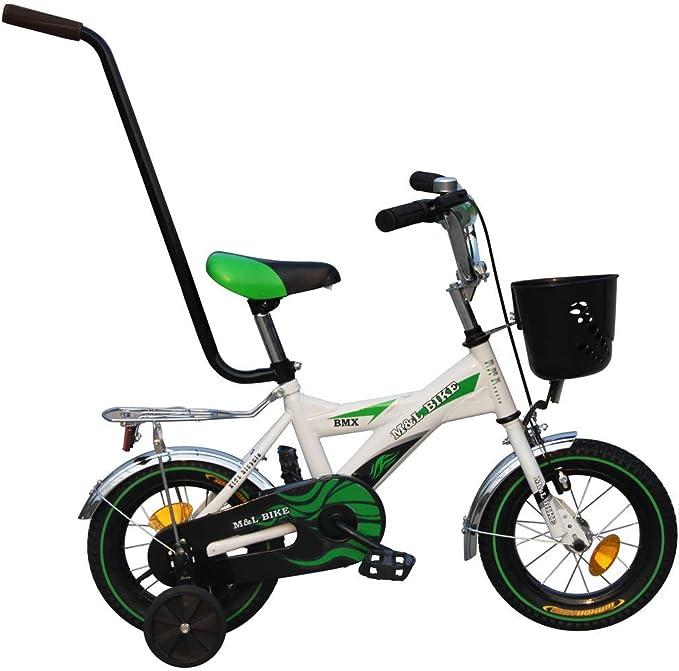 Clamaro Rookie - Bicicleta infantil, incluye ruedines, barra de ...