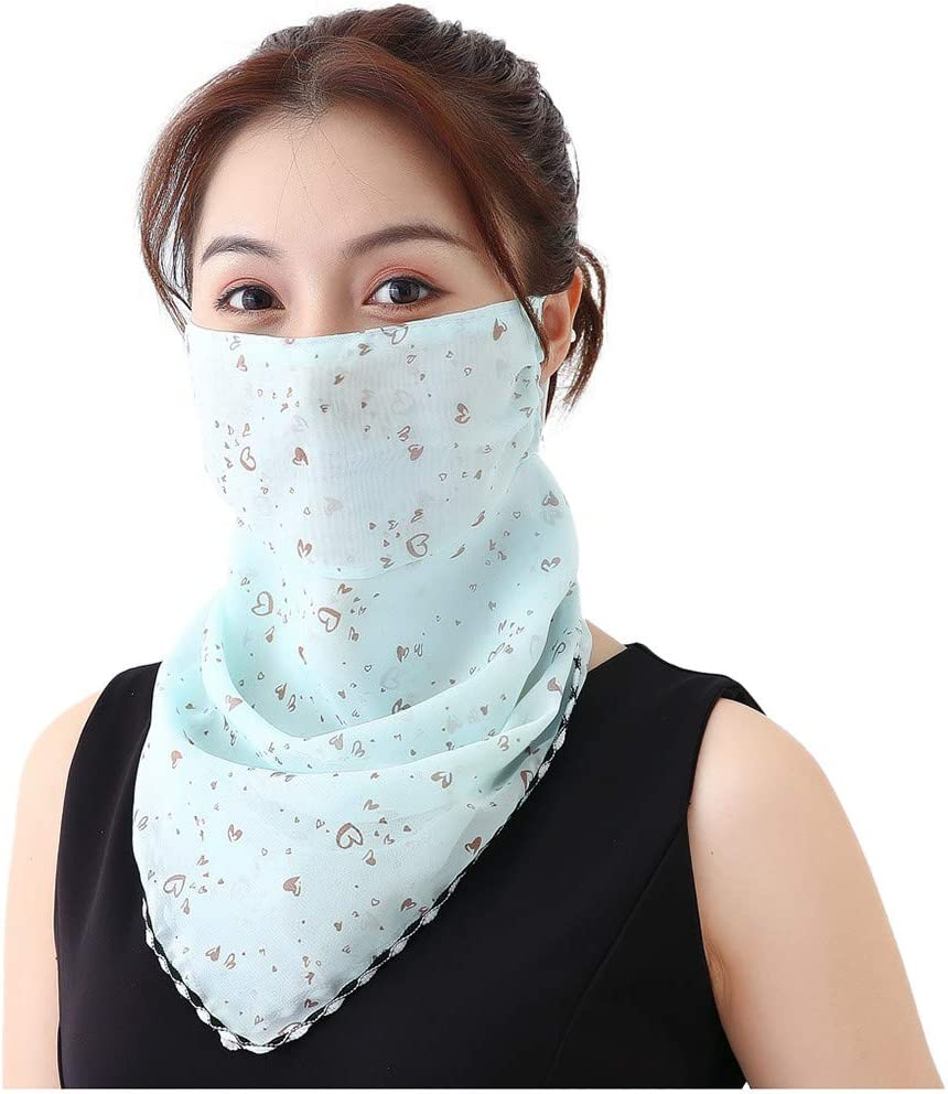 Unisex Cycling Mask Scarf Neck Gaiter Stretchy Breathable Balaclava UV Protective Cover for Face Neck 99native@ Womens Adjustable Sun Protection Face Scarf Print Silk Neck Gaiter 50
