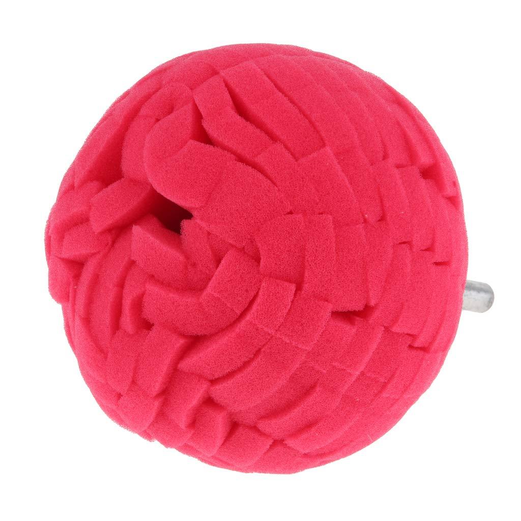 8x10cm B Blesiya Round Polishing Pads Sponge Buff Pads for Car Polisher Dark Red 6mm Shank