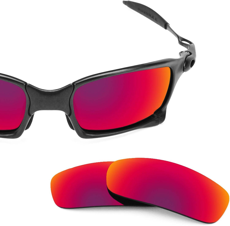 Revant Verres de Rechange pour Oakley X Squared - Compatibles avec les Lunettes de Soleil Oakley X Squared Soleil de Minuit Mirrorshield - Non Polarisés
