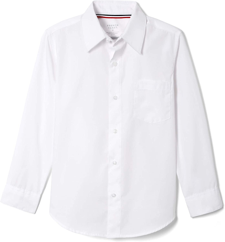 French Toast Boys Long Sleeve Poplin Dress Shirt