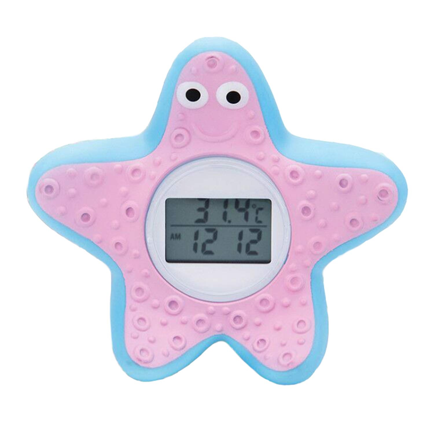 DongRong Baby Bath and Room Thermometer The Infant Baby Bath Floating Toy Safety Temperature Thermometer. Starfish