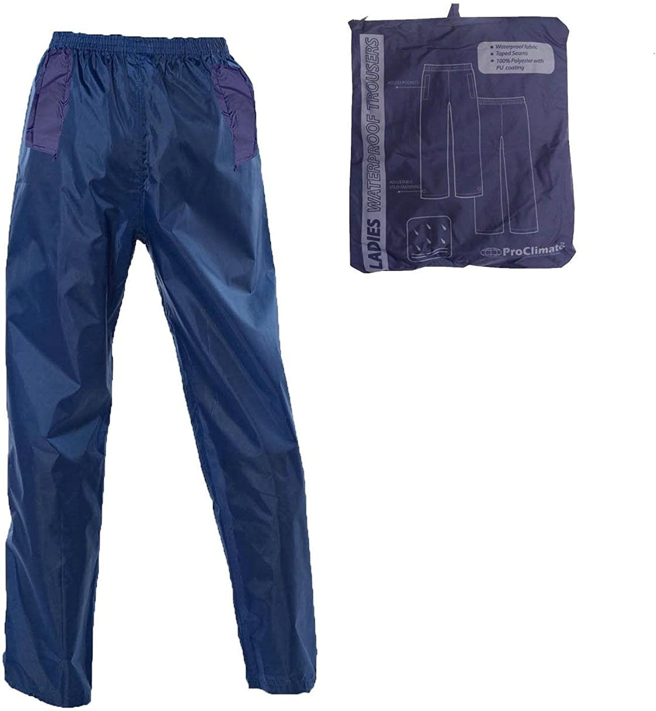 Mujer L Azul Proclimate Pantalones Impermeables Para Mujer Ropa Dayleasing Com