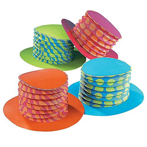 Fun Express Accordion Party Hats (2 - Hats Fun Party