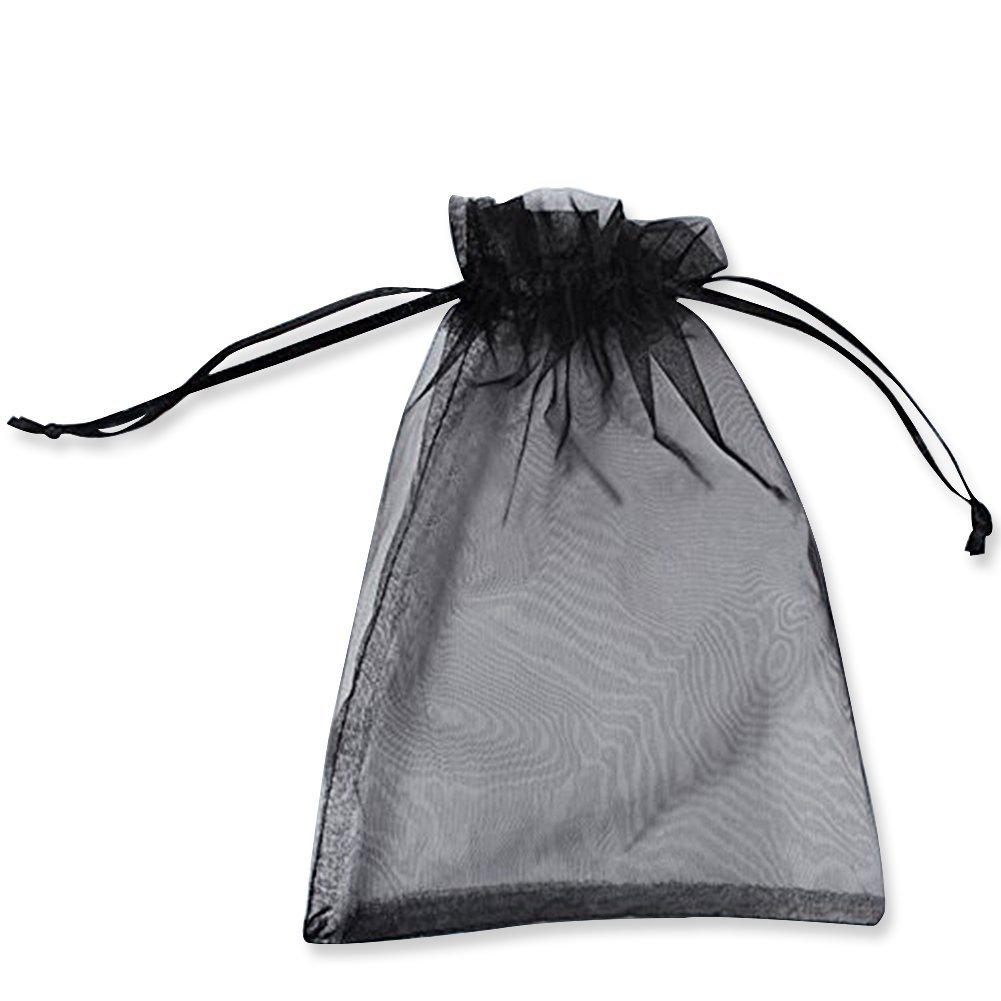 7d5a0d0766ae BZCTAH 100 Pcs 10 x 15cm Drawstring Organza Gift Bags Candy Pouch, Wedding  Party Christmas Favor Bags Jewelry Pouches Wrap,Black