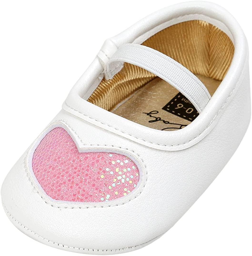 GorNorriss Baby Girl Shoes Toddler Sneaker Dot Sole Kids Children Princess Lace Sequins Shoes