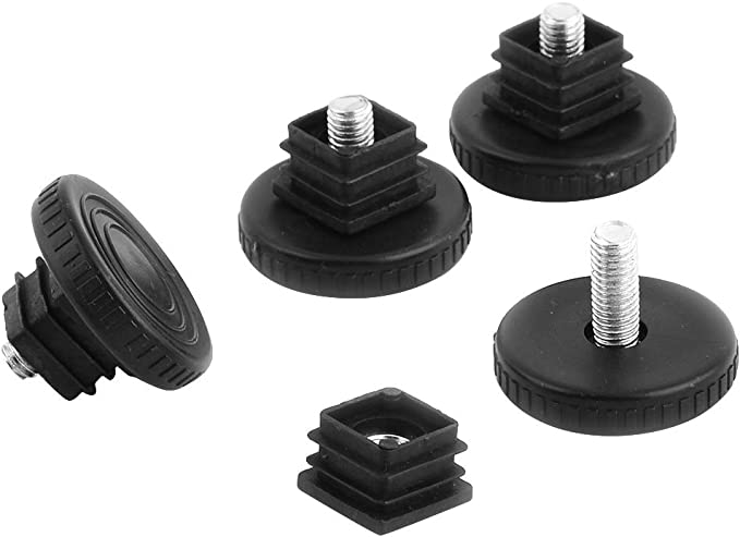 20x Black Plastic Blanking End Tube Caps Inserts Plug Bung Rectangle 30mm x 15mm