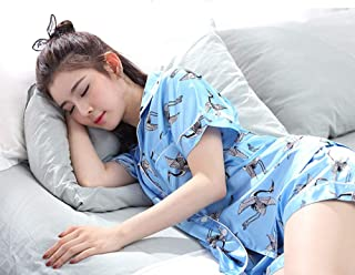 YTNGA Pigiama Womens    Pajamas Set Summer Short Sleeve Sleepwear