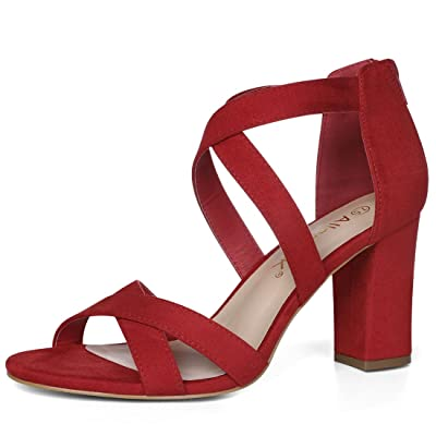 Allegra K Women's Crisscross Heeled Sandals | Heeled Sandals