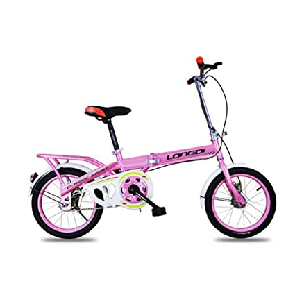 XQ 1618URE Bicicleta Plegable para Niños 12 Pulgadas Adulto Velocidad Única Mojadura Bicicleta para Estudiantes (
