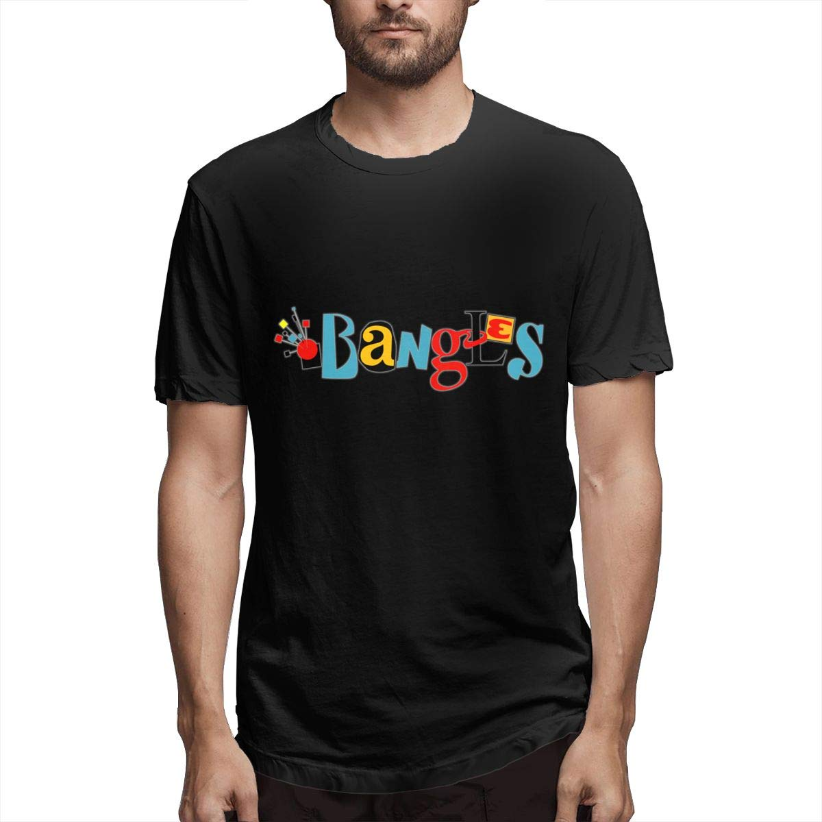 Lihehen Mans The Bangles Logo Round Neck T Shirts