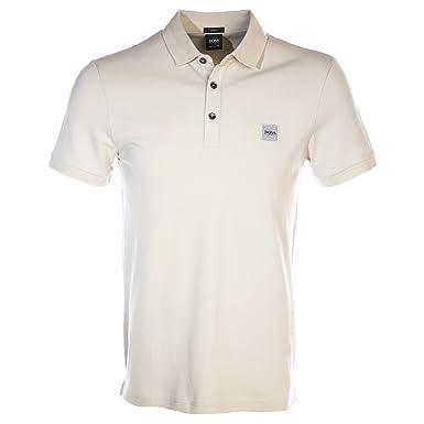 c25be333 BOSS Passenger Polo Shirt in Stone Cream at Amazon Men's Clothing store: