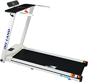 SKY LAND Treadmill EM-1270 with Very Easy Self Installation,with Easy Foldable Handle, 2 HP Motor, 100Kgs Max Capacity, White, 148 x 71 x 130 cm