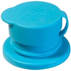 Pura Kiki – Tapa de silicona grande para botella, silicona, color azul