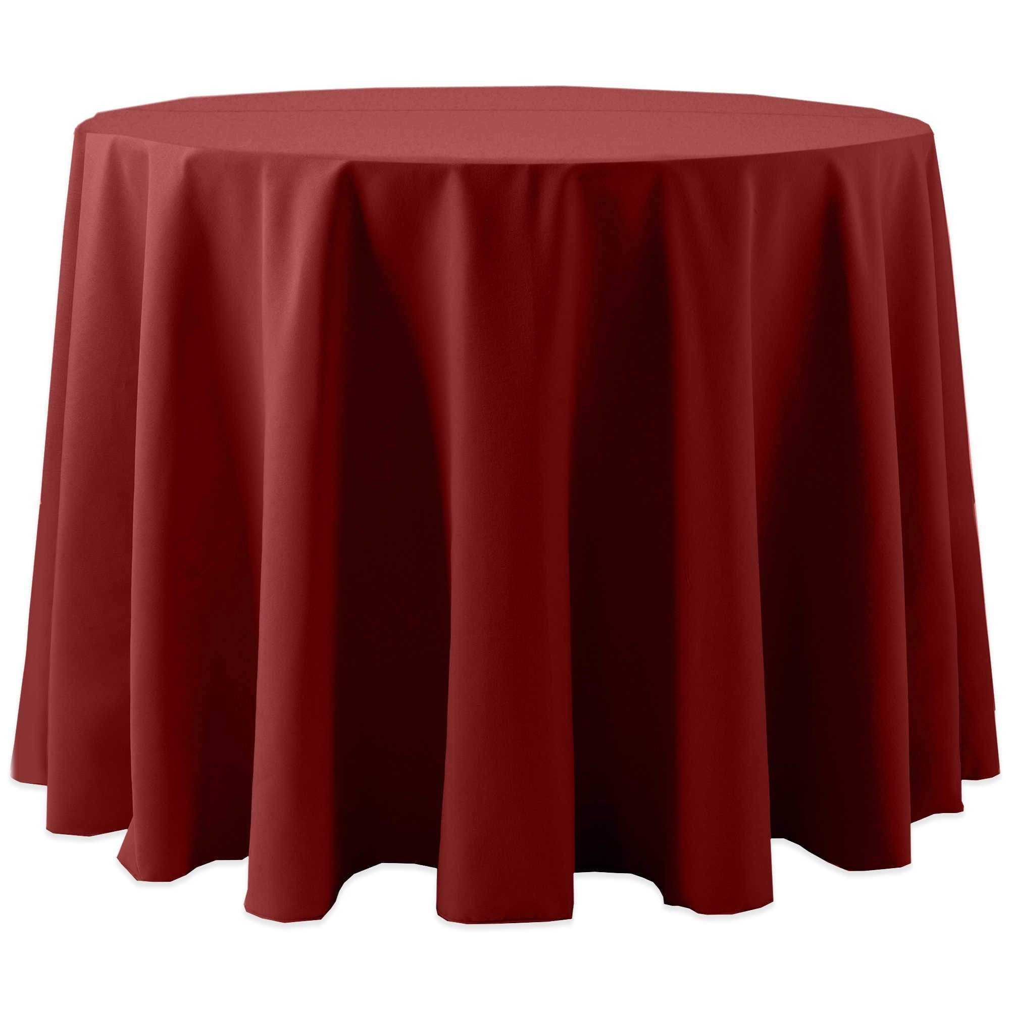 Ultimate Textile -2 Pack- Cotton-Feel 60-Inch Round Tablecloth - for Wedding and Banquet, Hotel or Home Fine Dining use, Brick Rust Red