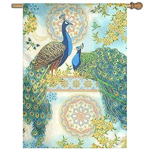 AFCFTDY House Flag Decorative Garden Flag-Peacock Polyester