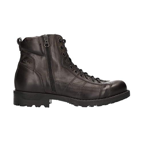 f1a4d96ca97 Nero Giardini A800640U - Botas de Cuero para Hombre Gris Gris  Amazon.es   Zapatos y complementos