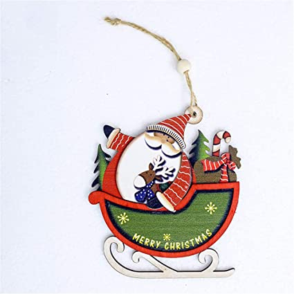 Amazoncom Midress Christmas Children Santa Claus Cute Wood Sleigh