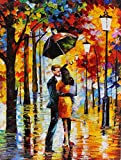 DANCE UNDER THE RAIN is an Original Oil Painting on Canvas by Leonid Afremov. Image: 48 x 36. This is one of Leonids best selling pieces! Being a hopeless romantic, Leonid Afremov has painted a lot of canvases with loving couples in them. Look at the...