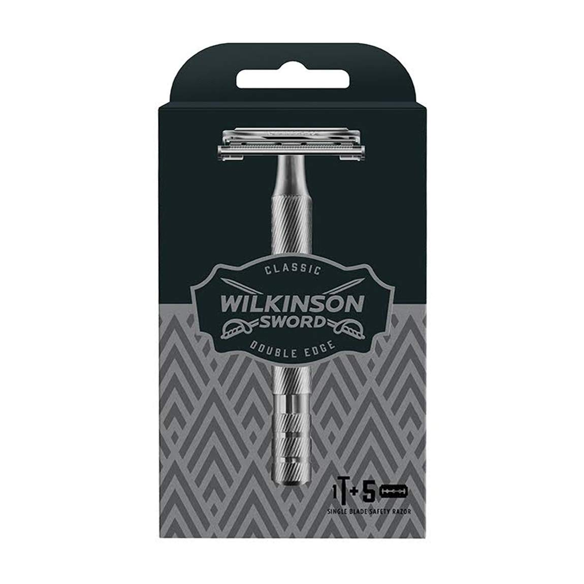 Wilkinson Sword Classic Double Edge Safety Razor With 5 Blades Co Uk Health Personal Care