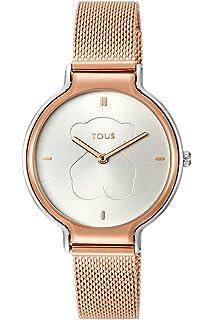 29d244cb95d4 Reloj Tous Free de Acero IP Rosado para Mujer 800350825  Amazon.es ...