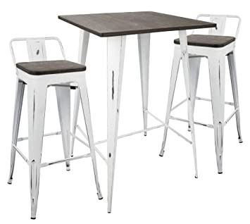 Groovy Amazon Com Lumisource Oregon Industrial Pub Table With 2 Dailytribune Chair Design For Home Dailytribuneorg
