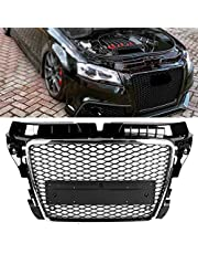 Front Hood Mesh, ForA-udi RS3 Style Front Mesh Grill Grille Car Modified Accessory Fit for A3/S3 8P 09-12