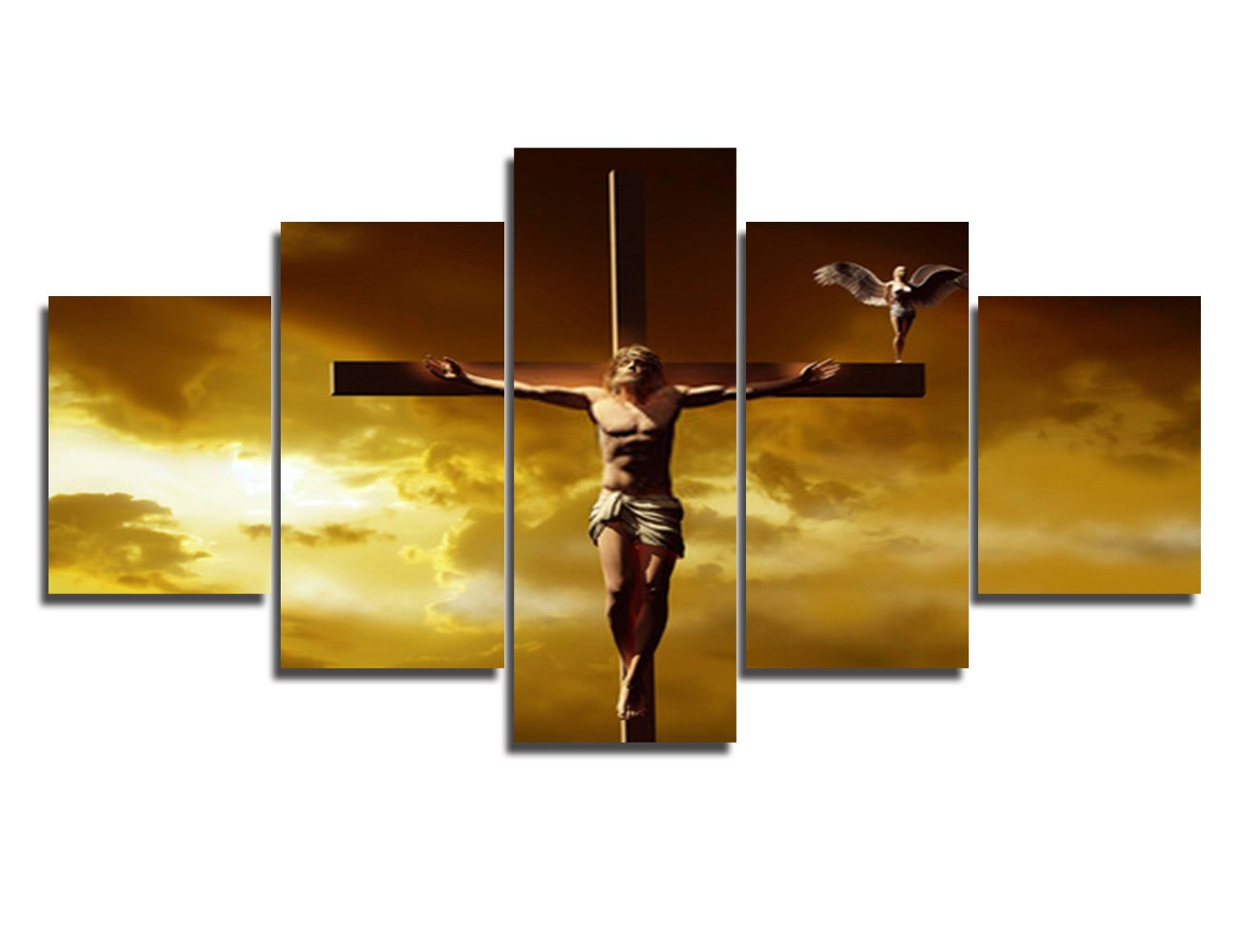 Amazon.com: Large Wall Decor Jesus Crucifixion Christianity Symbol ...