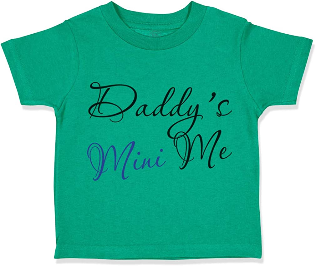 Custom Toddler T-Shirt Daddys Mini Me Dad Fathers Day Funny Humor Cotton