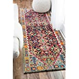 nuLOOM Distressed Traditional Flower Persian Multi Runner Rug (2 6 x 8 )